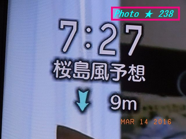 桜島の風向き