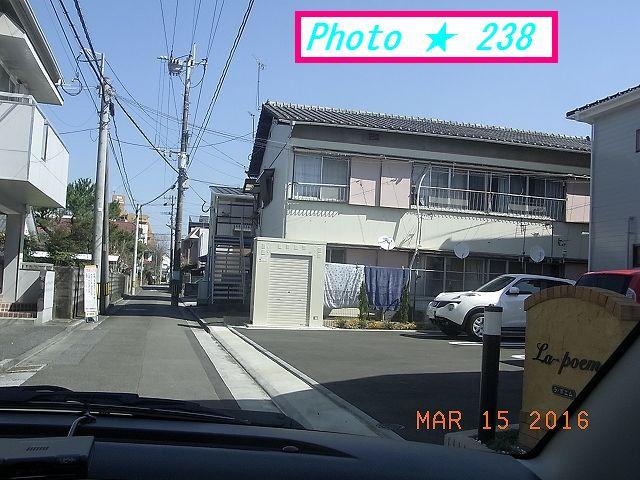旧自宅前の通り