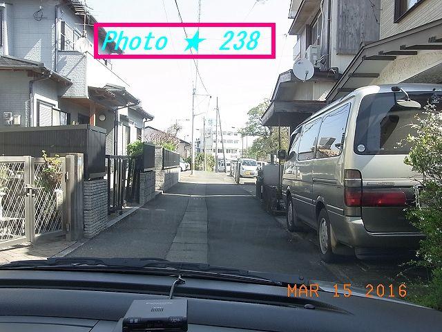 旧自宅前の通り③