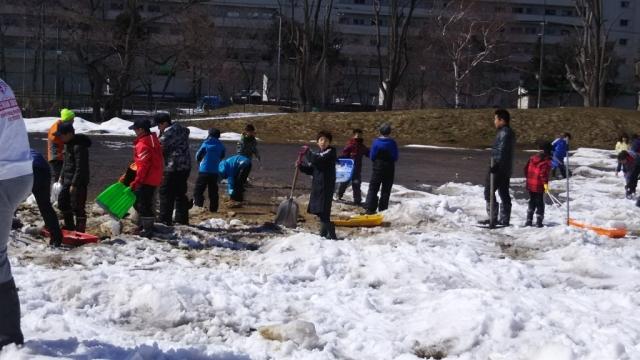 雪割り雑感サッカー込