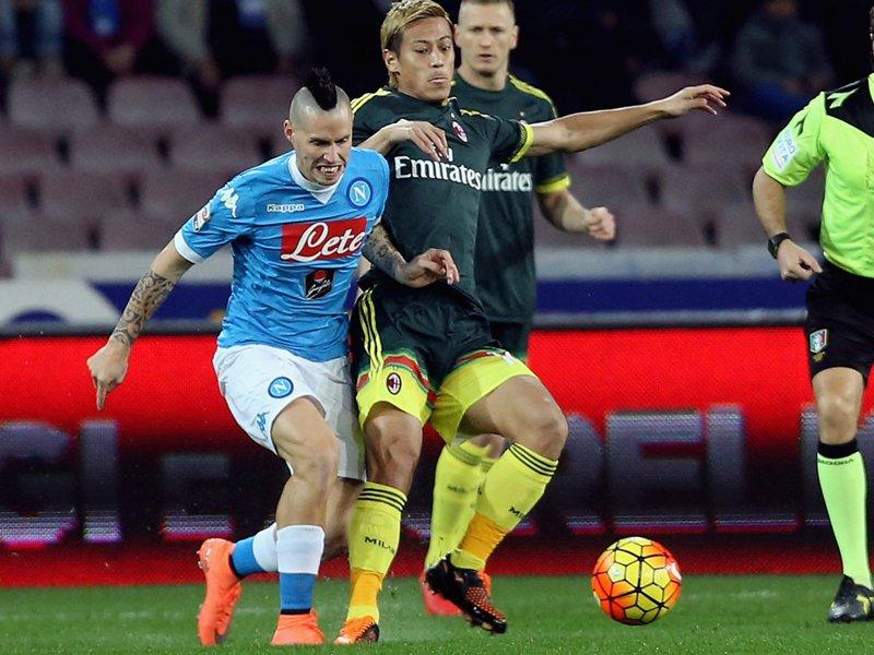 NapoliMilan 1-1, goal by Giacomo Bonaventura honda cross