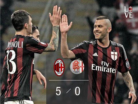 MilanAlessandria 5-0 Menez Romagnoli balo goals