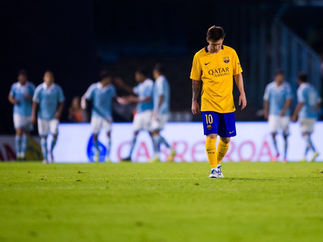 barcelona-lionel-messi Barca thrashed 4-1 by Celta Vigo