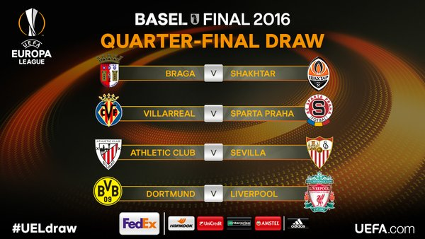 The official result of the #UELdraw 2016