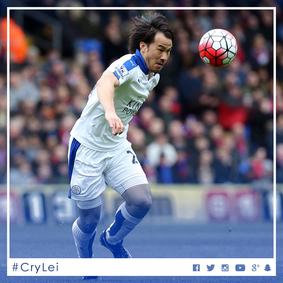 Leicesters Japanese striker Shinji Okazaki against Palace