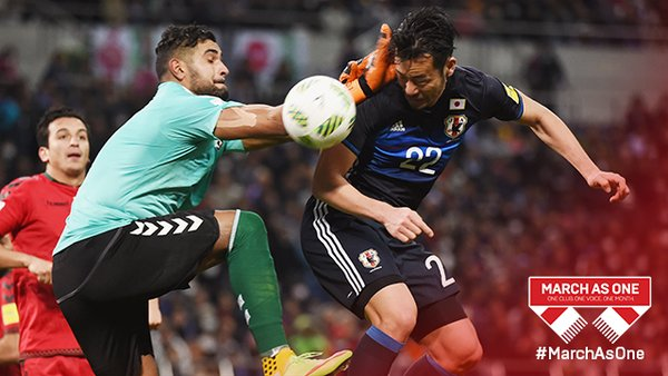SaintsFC defender MayaYoshida3 scores as Japan beat Afghanistan 5-0