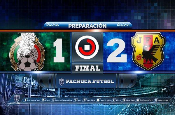 Mexico cayó por marcador de 1-2 con Japón