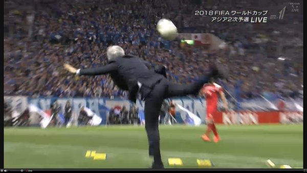 Halilhodzic almost broke his leg doing this