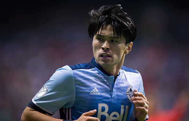 Japanese striker Masato Kudo was lively particularly in the first half, for the Whitecaps
