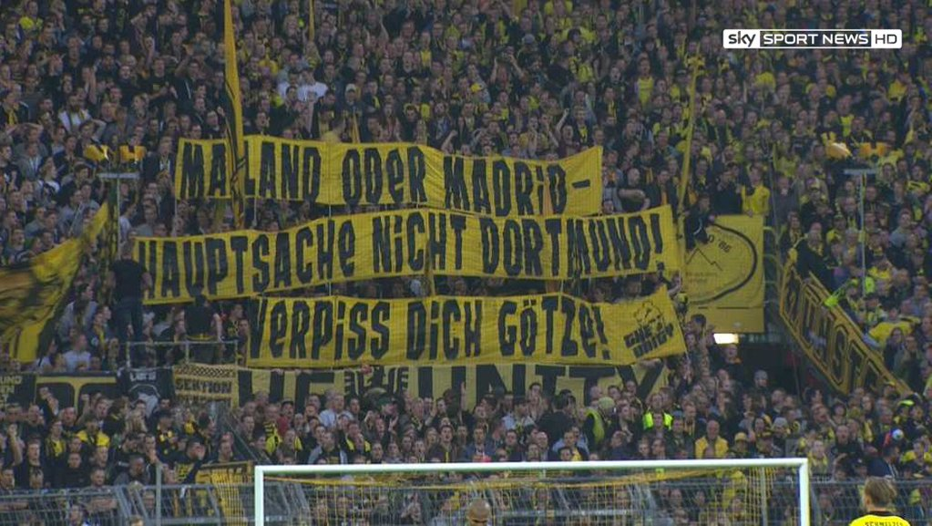 BVB fans against Götzes return to the club