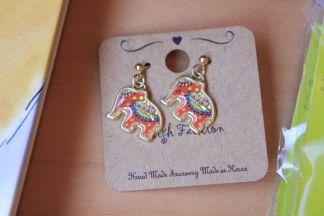 Elephant_pierced earring