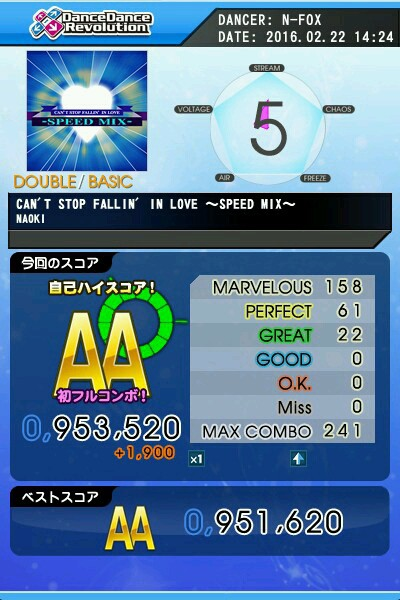 CANT STOP FALLIN IN LOVE ~SPEED MIX~ BDP AA 緑フルコン
