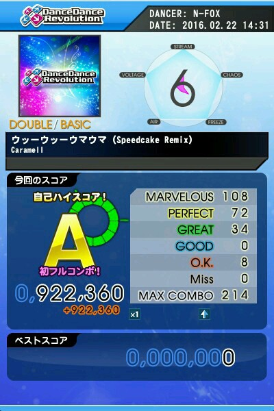ウッーウッーウマウマ(Speedcake Remix) BDP A 緑フルコン