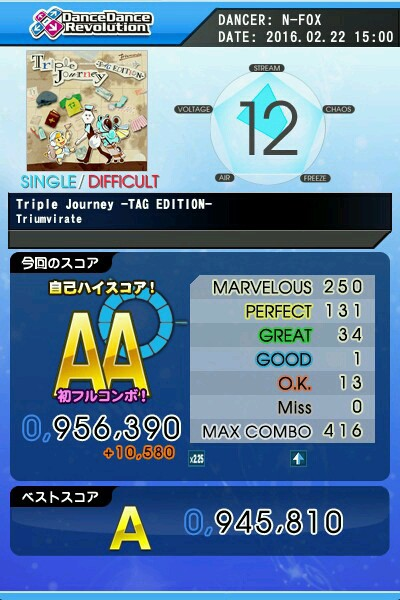 Triple Journey -TAG EDITION- DSP AA 青フルコン