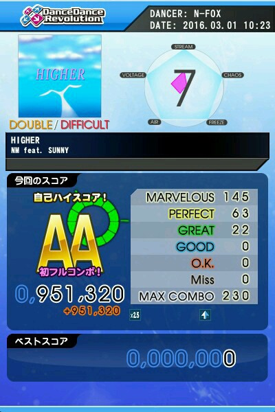 HIGHER DDP AA 緑フルコン