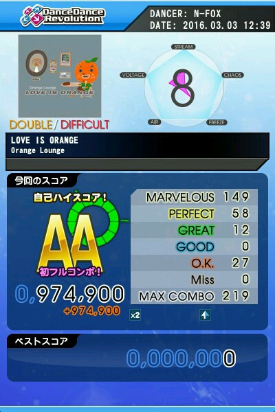 LOVE IS ORANGE DDP AA 緑フルコン