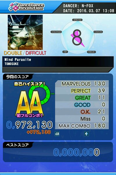 Mind Parasite DDP AA 緑フルコン