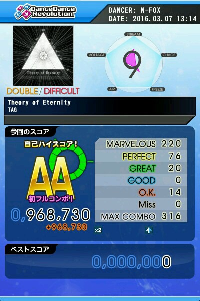 Theory of Eternity DDP AA 緑フルコン