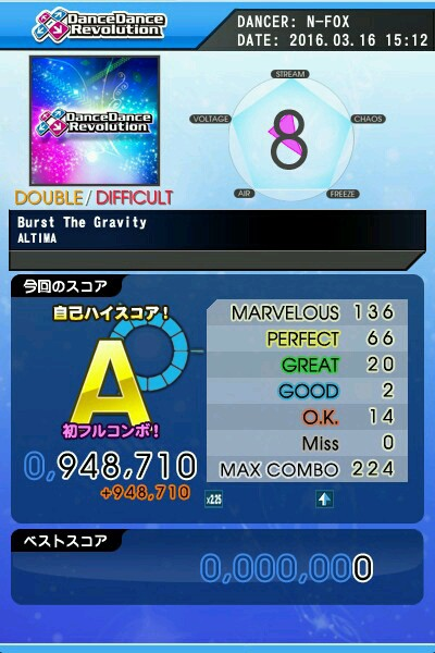 Burst The Gravity DDP A 青フルコン