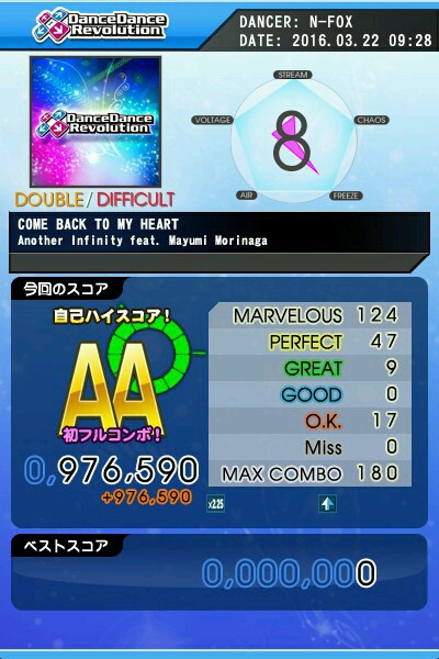 COME BACK TO MY HEART DDP AA 緑フル