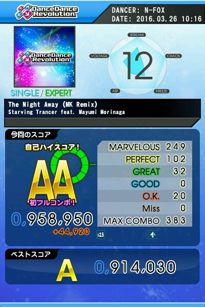 The Night Away(MK Remix) ESP AA 緑フル