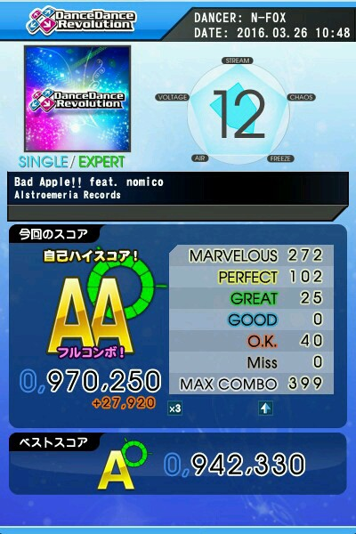 Bad Apple!! feat nomico ESP AA 緑フル