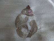 刺繍日本猿