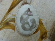日本猿刺繍