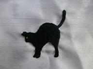 黒猫 刺繍
