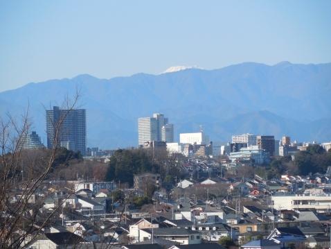 成瀬山吹緑地から見た富士山@町田市a