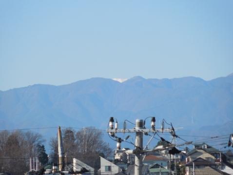 奈良谷戸橋の上から見た富士山b