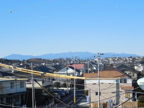 奈良谷戸橋の上から見た富士山a