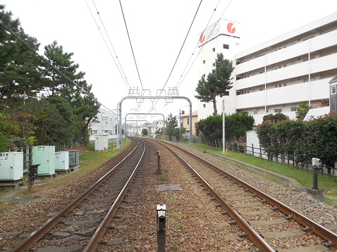 小田急江ノ島線の本鵠沼6号踏切@藤沢市g