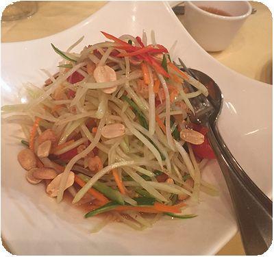 湄河餐廳パパイヤサラダ