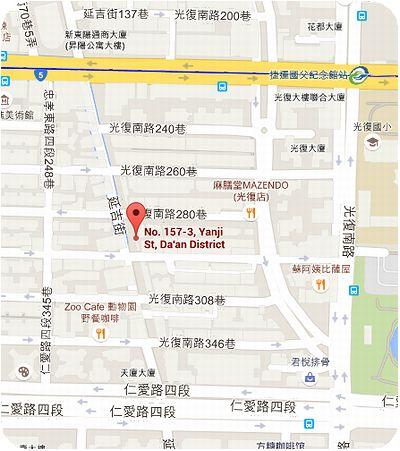 湄河餐廳地図
