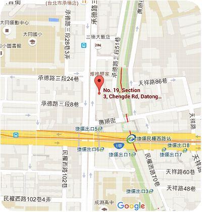 洪記薑母茶舗地図