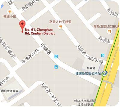 韓笑味韓國廚房地図