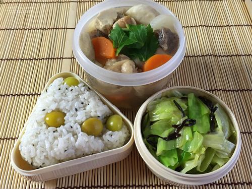 銀杏おむすび&鶏けんちん汁弁当01