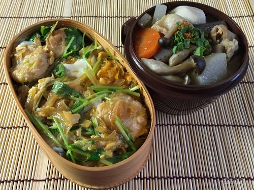 鶏団子の親子丼弁当01