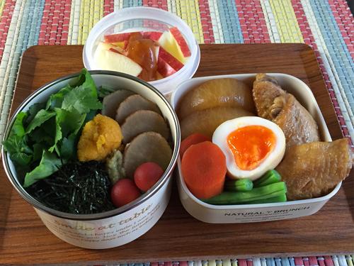 手羽先と野菜の黒酢煮弁当01