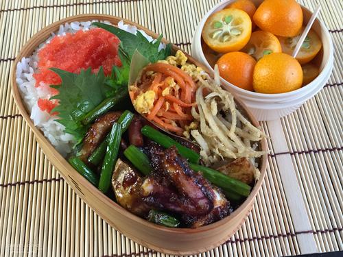 イカと野菜の甘辛炒め弁当01
