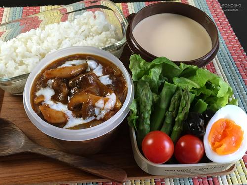 牛すじと茸のハヤシライス弁当01