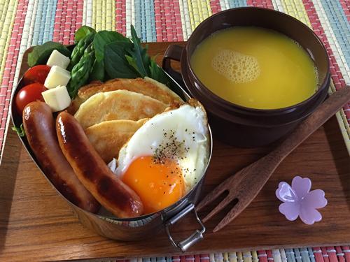 カッテージチーズのパンケーキ弁当01