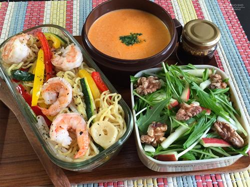 海老と野菜のアンチョビ焼きそば弁当01