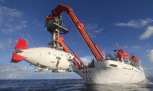 中国有人潜水調査船「蛟竜(こうりゅう)」