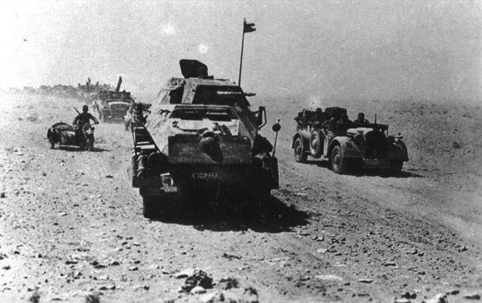北アフリカ戦線にて