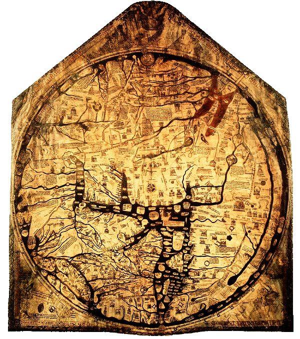 ヘレフォードの地図