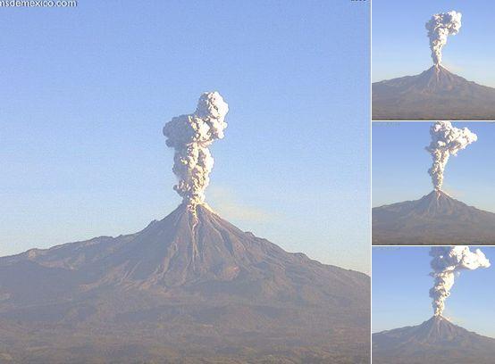 メキシコのコリマ火山が大噴火…噴煙は3000メートルに達する