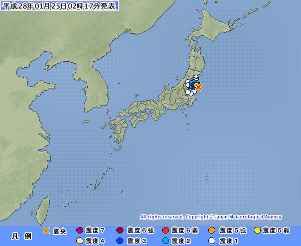 「千葉でM4.4 最大震度3」「福島でもM4.2 最大震度4」の地震が発生