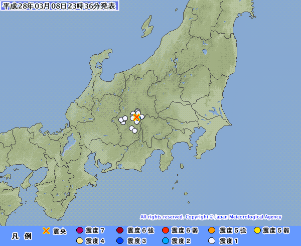 【糸魚川断層帯】長野県で最大震度2の地震 M3.2 震源地は長野県南部 深さ10km
